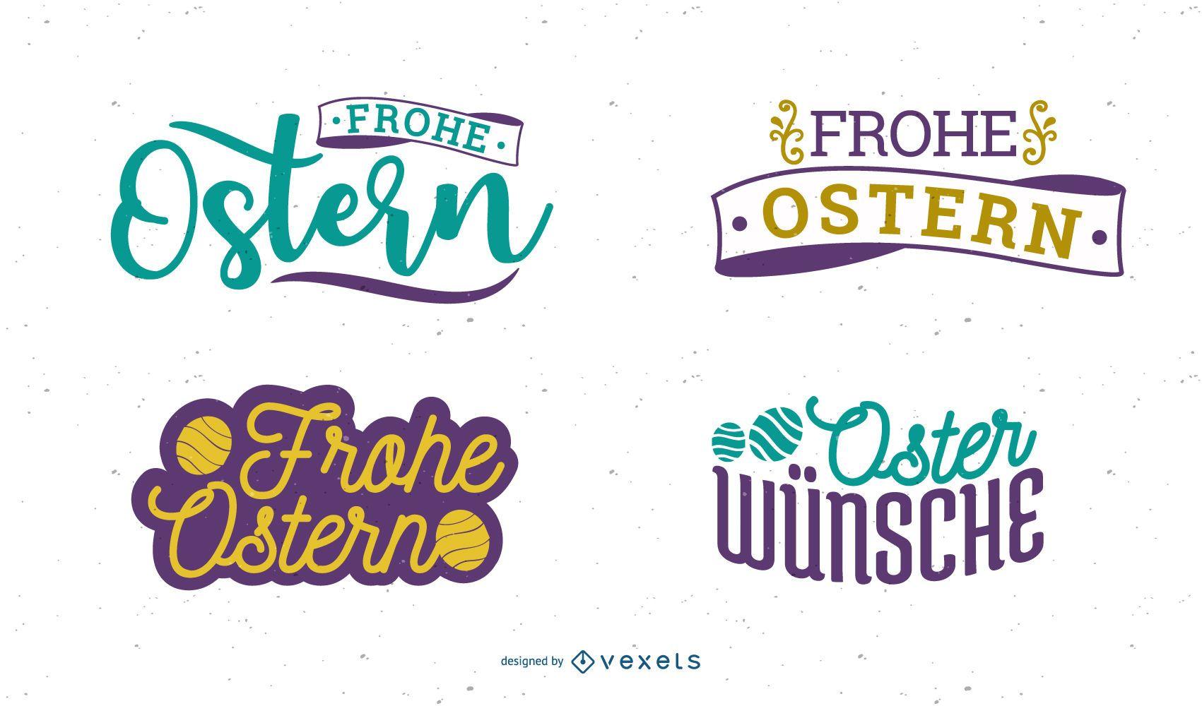 Diseño de saludo de Pascua de Frohe Ostern