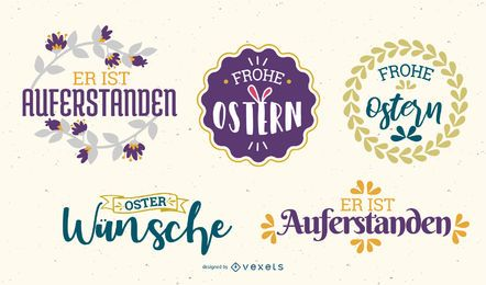 Easter badges design set