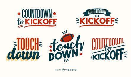 Diseño de letras de declaraciones de fútbol