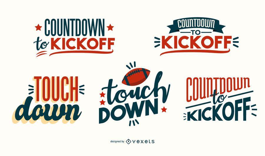 Design de letras de declarações de futebol