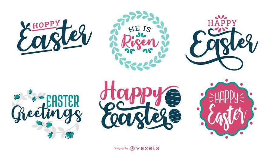 Feliz diseño de letras de Pascua