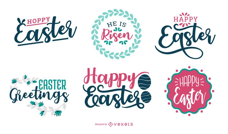 Happy Easter Lettering Design