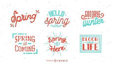 Conjunto de letras de primavera