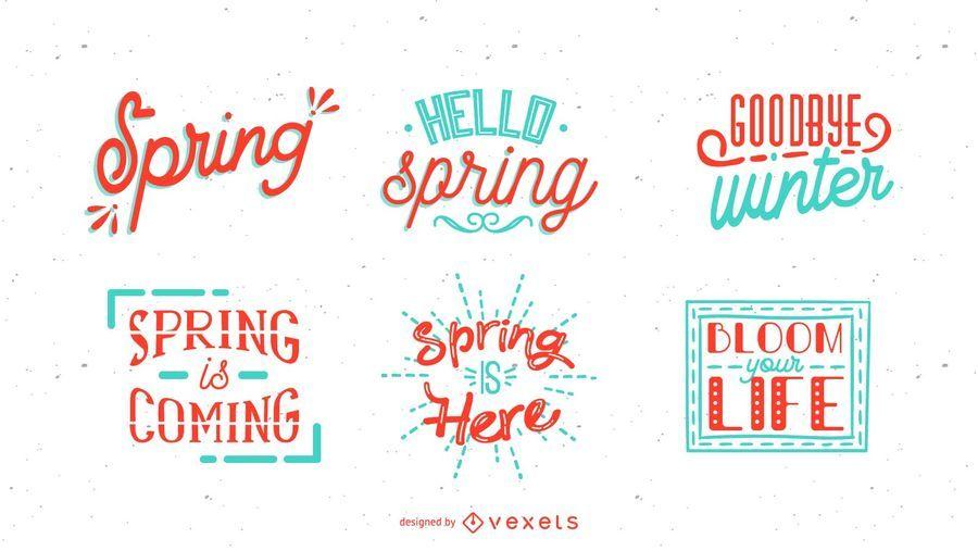 Spring Lettering Set