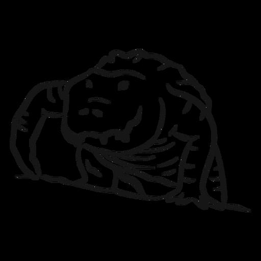 Alligator crocodile fang sketch