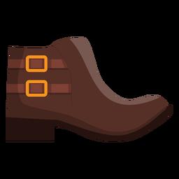 Tornozelo boot bootee fivela calcanhar plana
