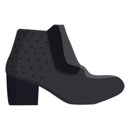 Ankle boot bootee flat