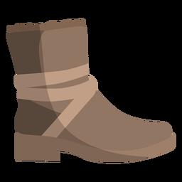 Tornozelo boot bootee ribbon flat