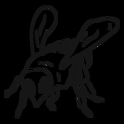 Bosquejo de rayas de avispa de abeja