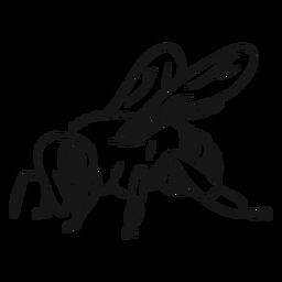 Esboço de vespa de listra de asa de abelha