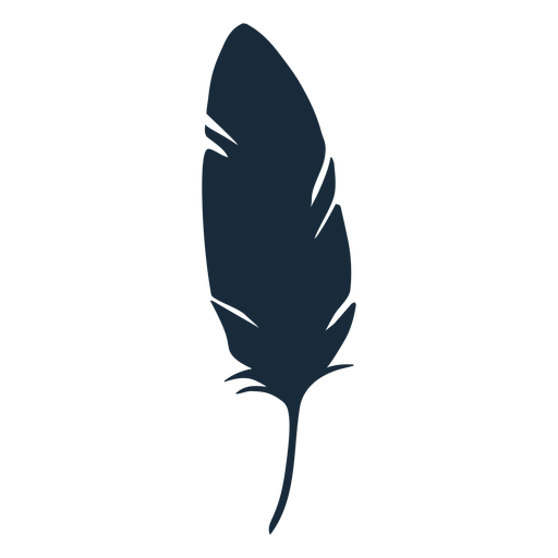 Bird down feather silhouette Transparent PNG