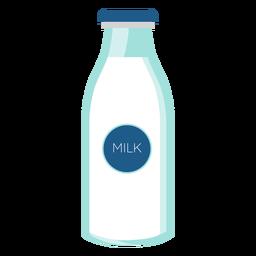 Botella de leche vaso plano