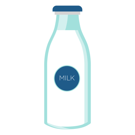 Bottle milk glass flat Transparent PNG