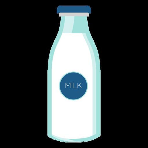 Flasche Milchglas flach Transparent PNG