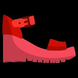 Schnallen Sie den Schuh flach