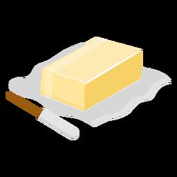 Faca de manteiga plana