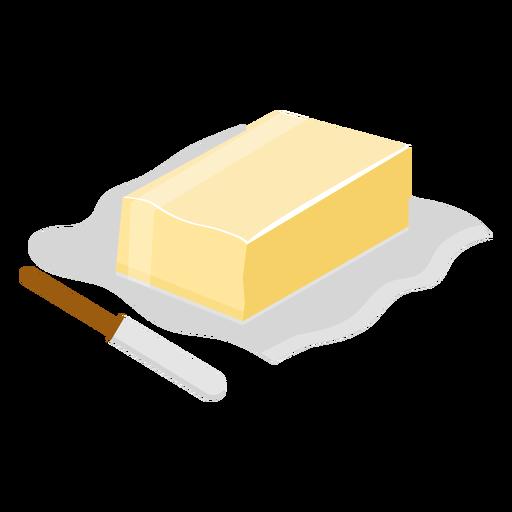 Faca de manteiga plana Transparent PNG