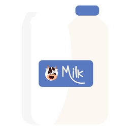 Canister jerrycan milk cow illustration