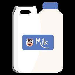 Ilustración de vaca de bote de leche de bote
