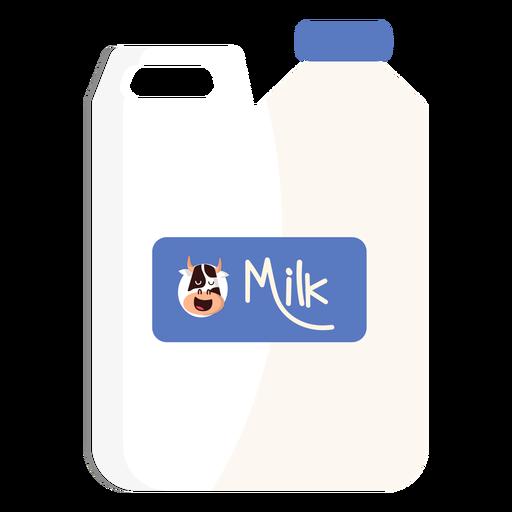 Ilustración de vaca de leche de bidón de bote