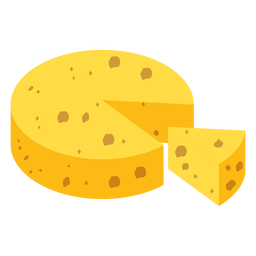 Cheese piece flat