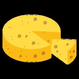 Pieza de queso plana