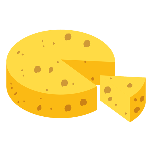 Cheese piece flat Transparent PNG