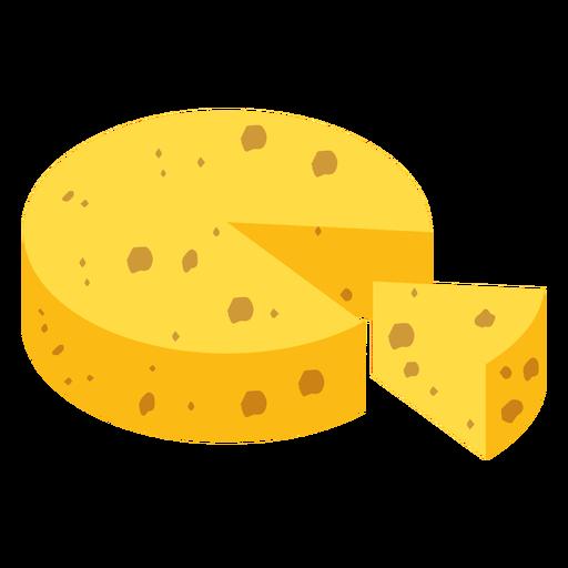 Käse Stück flach Transparent PNG