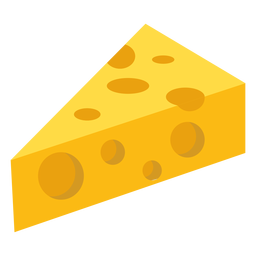 Pedazo de queso plano