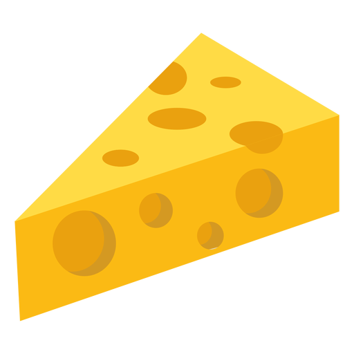 Cheese piece hole flat Transparent PNG