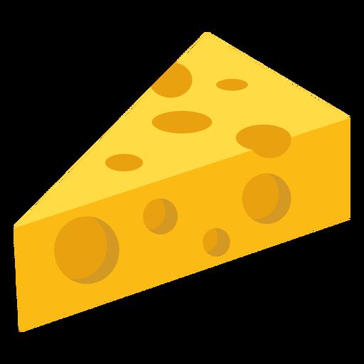 Pieza de queso agujero plano Transparent PNG