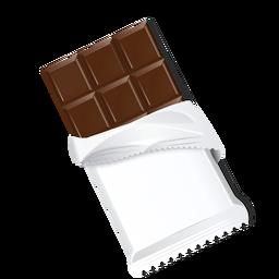 Chocolate barra de chocolate tijolo leite chocolate ilustração