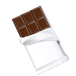 Schokoriegelschokoladeziegelsteinmilch-Schokoladenillustration