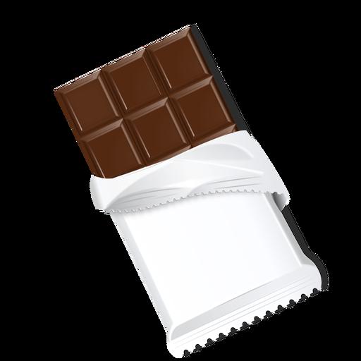 Barra de chocolate chocolate ladrillo chocolate con leche ilustración