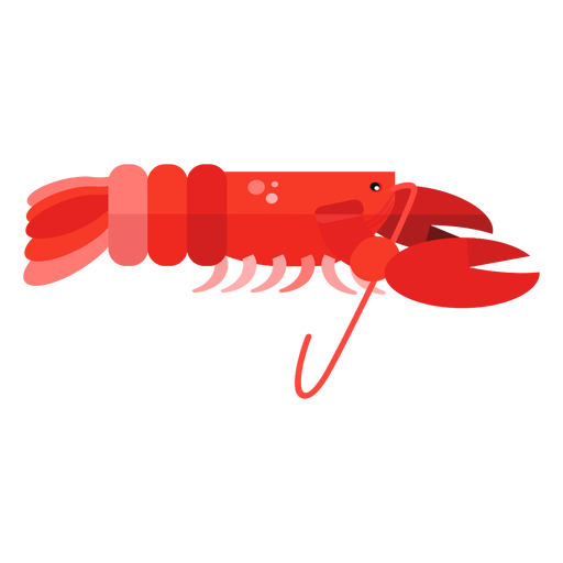 Claw lobster antenna flat Transparent PNG