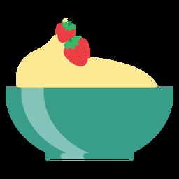 Taza cuenco fresa plano