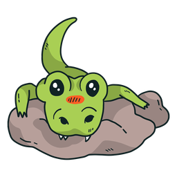 Cauda de jacaré crocodilo fang cauda de caça plana