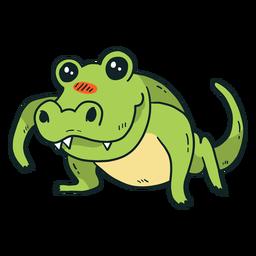 Cauda de jacaré de crocodilo fofo cauda plana