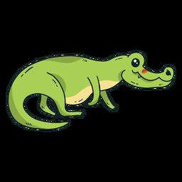Lindo colmillo de cola de cocodrilo cocodrilo plano