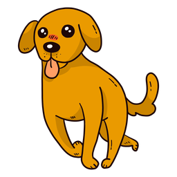 Perro lindo cachorro oreja cola lengua correr plano