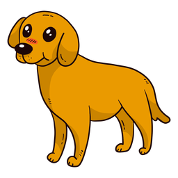 Perro lindo cachorro cola oreja lengua plana