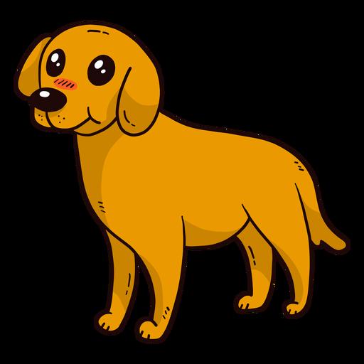 Cute dog puppy tail ear tongue flat