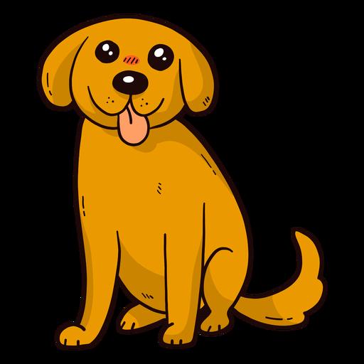 Orelha de cachorro fofo cachorro língua cauda plana Transparent PNG
