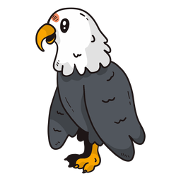 Ala de pico de águila linda talon plana