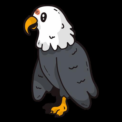 Ala de pico de águila linda talon plana Transparent PNG
