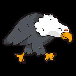 Cute eagle wing beak talon flat