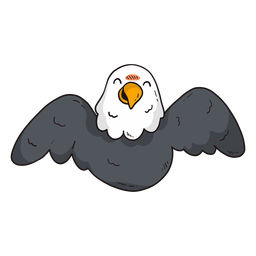 Ala de águila linda mosca volando pico plana