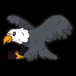 Ala de águila linda mosca volando pico talon plana