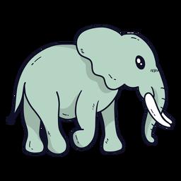 Bonito, elefante orelha, marfim, tronco tronco, plano