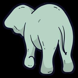 Linda oreja de elefante cola plana